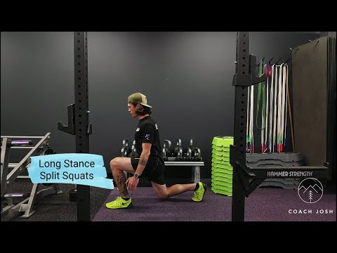 How to Do: Long Stance Split Squats (Build Your Legs Training at Home) - Coach Josh Wood