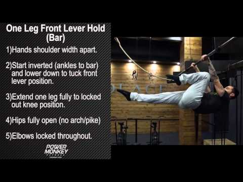 One Leg Front Lever Hold (Bar)