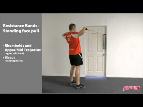 Resistance Band standing face pull