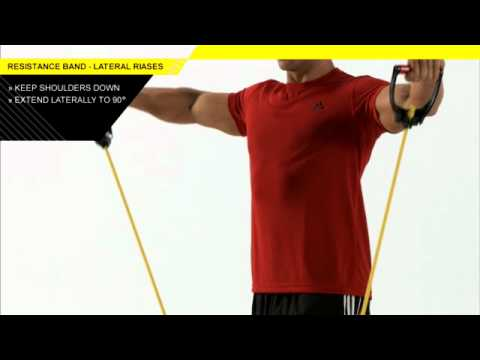 Resistance Band Lateral and Forward Raises