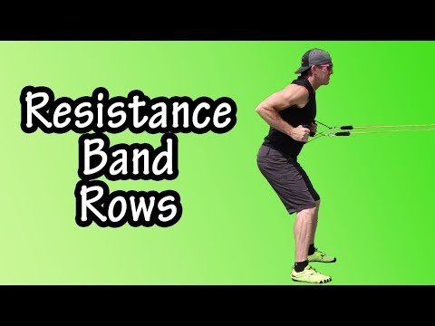 Beginner Resistance Band Rows Exercise - How To Do Resistance Band Row Exercise - Standing Band Rows