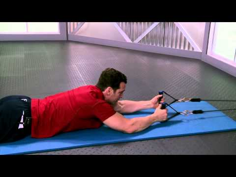 HOW TO DO Lying Lat Pull Down with Resistance Bands