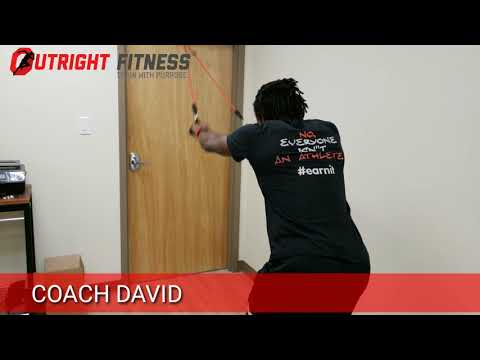 Resistance Band Straight Arm Pull Down