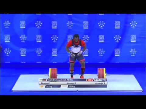 Kendrick Farris' Clean and Jerks at the 2013 World University Games