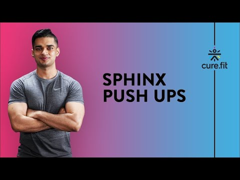 How To Do Sphinx Push Ups for Shredded Triceps by Cult Fit | Triceps Exercise | Cult Fit | Cure Fit