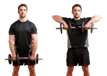 El Jalón al cuello estimula el deltoide medio, deltoide anterior y los trapecios.